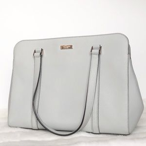 Kate Spade Gray Leather Tote
